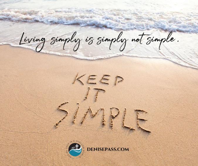 9-16-19 Simplicity